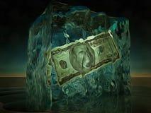 $100 congelado Fotografia de Stock