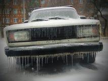 Congelado con los carámbanos Imagen de archivo libre de regalías