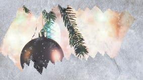 Congelado a janela da animação com a neve video estoque