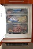 Congelador aberto Imagens de Stock Royalty Free