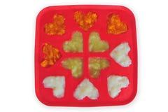 Congelador de los alimentos para niños Foto de archivo