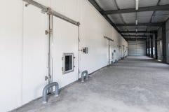 Congelador de Warehouse en la fábrica foto de archivo
