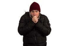 Congelação do homem novo Fotografia de Stock Royalty Free