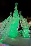Congele a cidade com esculturas na cidade de Yekaterinburg, 2016 Fotos de Stock Royalty Free