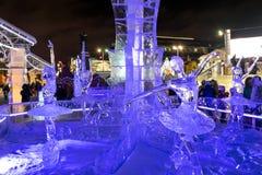 Congele a cidade com esculturas na cidade de Yekaterinburg, 2016 Foto de Stock