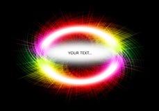 Congele el movimiento de la explosión de polvo coloreada en forma de la raya imagen de archivo