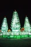 Congele a lanterna de ŒIce do ¼ do sculptureï, três torres imagens de stock
