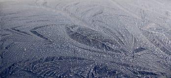 Congele no telhado de um carro azul Imagens de Stock