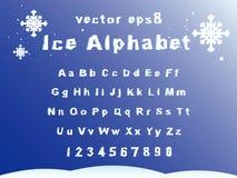 Congele o alfabeto Imagem de Stock
