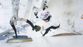 Congele o campeonato de escalada 2011 do mundo Foto de Stock Royalty Free
