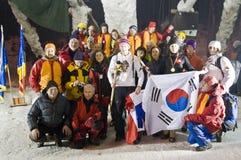 Congele o campeonato de escalada Busteni 2008 do mundo Fotografia de Stock Royalty Free