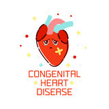 Congenital heart disease poster Royalty Free Stock Images