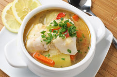 Conger soup Stock Photography