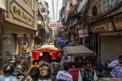 Congestão má em Deli, Índia Foto de Stock