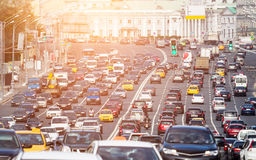 Congested with cars multilane road Stock Photography