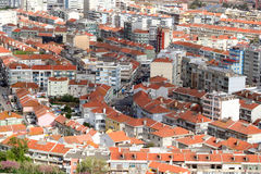 Congested rooftops Stock Images