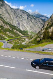Congested St. Gotthard pass Royalty Free Stock Image