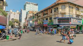 Congested streets of Ho Chi Minh Royalty Free Stock Photography