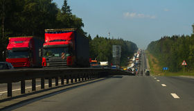Congestión de camino fotografía de archivo