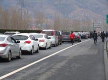 Congestión de la carretera Imagen de archivo libre de regalías