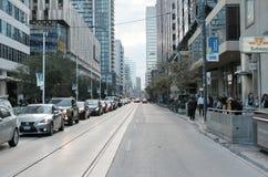 Congestión y tráfico james en Toronto, Canadá fotografía de archivo libre de regalías