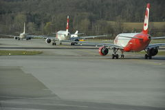 Congestion at the Airport Zurich, Switzerland Royalty Free Stock Image
