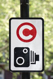 Congestion charge sign Stock Photography