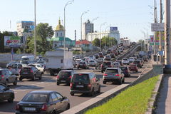Congestion on city roads Royalty Free Stock Images