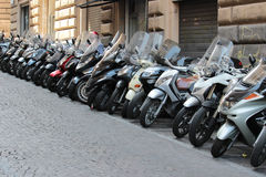 Congestion of motorcycles Stock Images