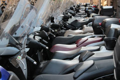 Congestion of motorcycles Stock Photos