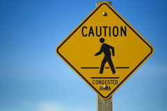 Congestion Sign royalty free stock images