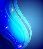 Congestion of stars in the dark blue sky Stock Images