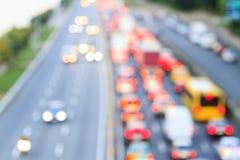 Congestione dei veicoli nella città fotografie stock