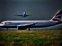 Congestione di Heathrow Immagine Stock