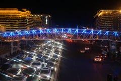 Congestione e luce della città fotografia stock libera da diritti