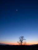 Congiunzione planetaria Fotografia Stock Libera da Diritti