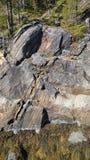 Conglomeraat van rotsen stock afbeelding