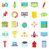 Conglomerate icons set, cartoon style Stock Photography