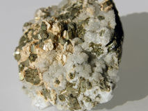 Conglomerate rock of crystals Stock Images