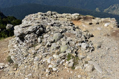 Conglomerate rock with gravel, clasts and pebbles Royalty Free Stock Photos