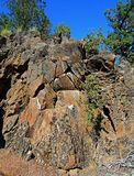 Conglomeration. Rock formation along the Tumalo Canal Trail - near Tumalo, OR royalty free stock photos