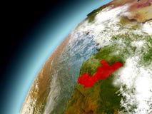 Congo de la órbita de Earth modelo Imagen de archivo libre de regalías