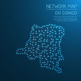Congo, The Democratic Republic Of The network map. Stock Image