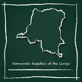 Congo, The Democratic Republic Of The outline. Royalty Free Stock Photo
