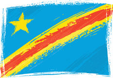 congo demokratisk flaggarepublik royaltyfri illustrationer