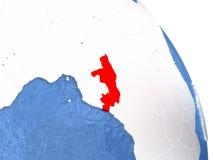 Congo on elegant globe Stock Image