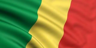congo flaga republiki Zdjęcia Royalty Free