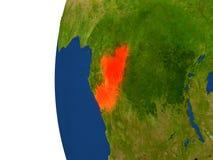 Congo on globe Stock Photo
