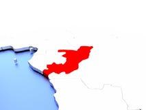 Congo on globe Royalty Free Stock Photo