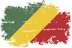 Congo grunge flag. Vector illustration. Royalty Free Stock Photos